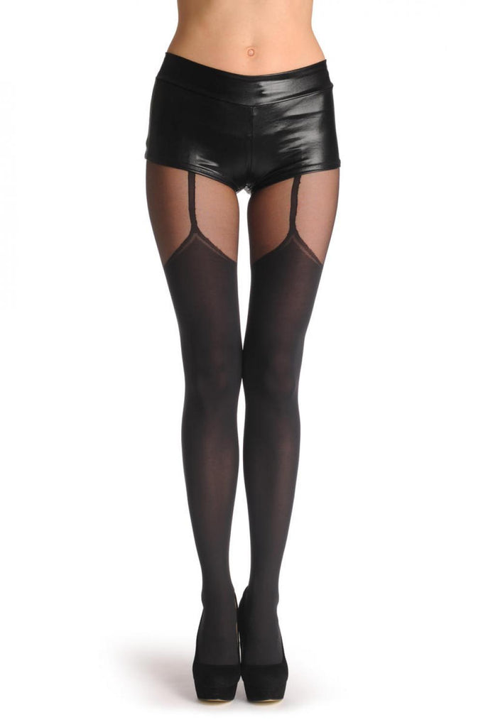 Black Stocking With Suspender Belt 60 Den