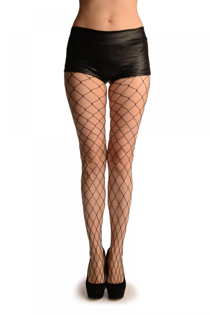Black Small Fishnet With Diamantes