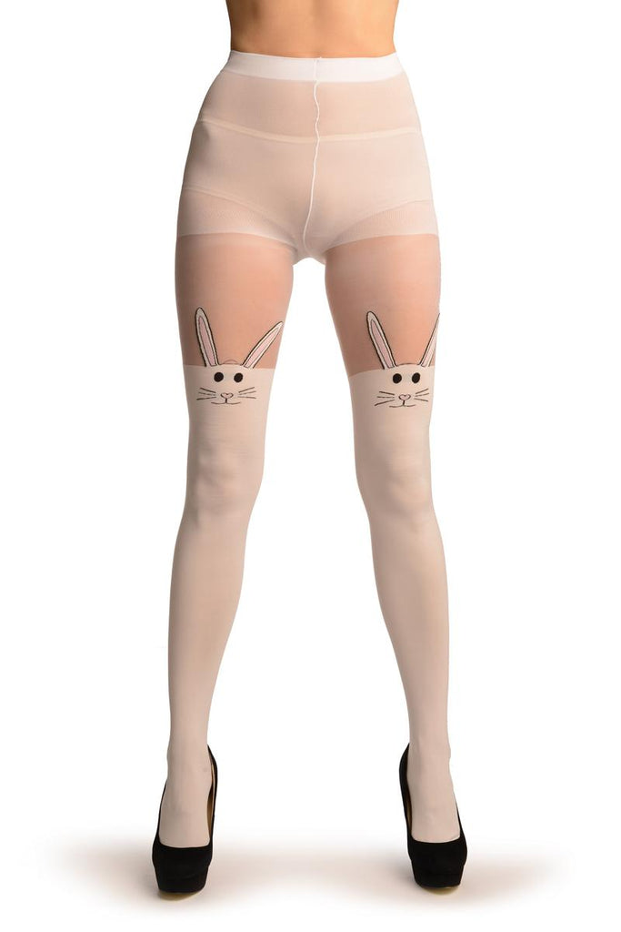 2a53f51065c6b White Opaque Bunnies Faux Over The Knees | LissKiss