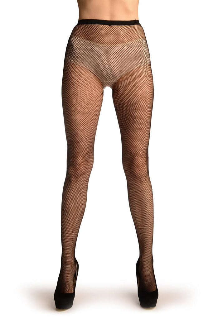 Small Fishnet With Black & Whyte Crystals Tights