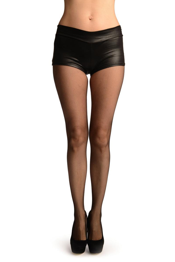Black Luxurious Small Mesh Fishnet Tights