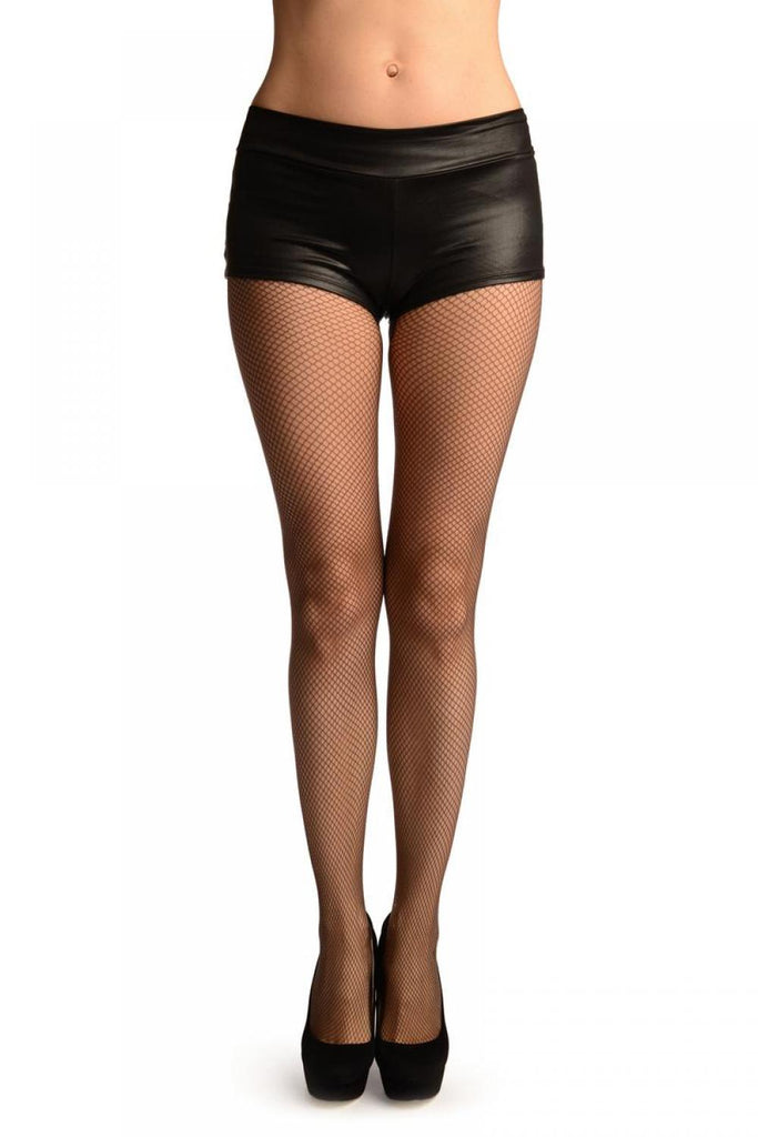 Dark Grey Luxurious Medium Mesh Fishnet Tights