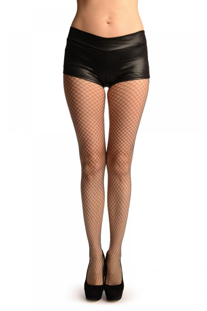 Dark Blue Luxurious Large Mesh Fishnet Tights
