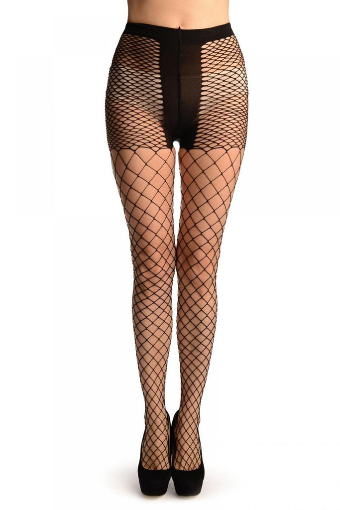 Black Luxurious Maxi Mesh Fishnet Tights