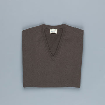 William Lockie Oxton Cashmere V-Neck Scout