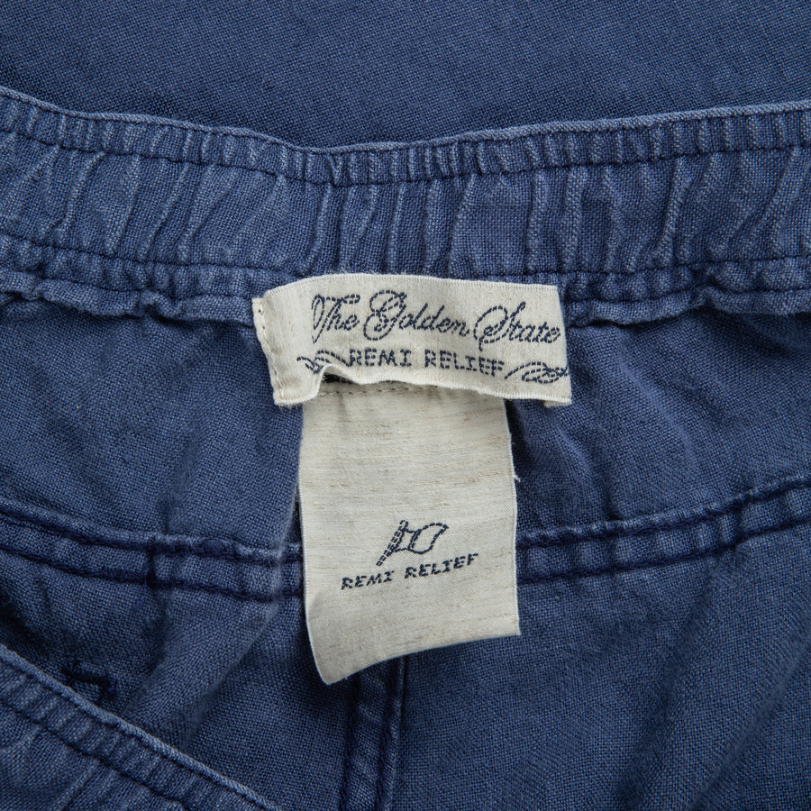Remi Relief Linen Easy Short Blue
