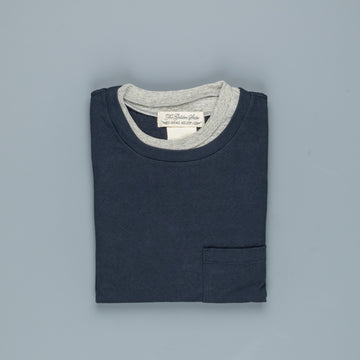 Remi Relief Heavy Cotton Double Neck LS Tee Navy
