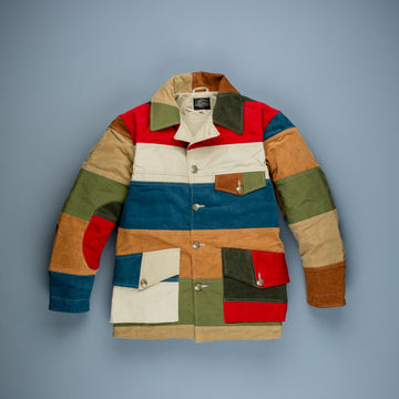 The Real McCoy's Patchwork Corduroy Hunting Coat