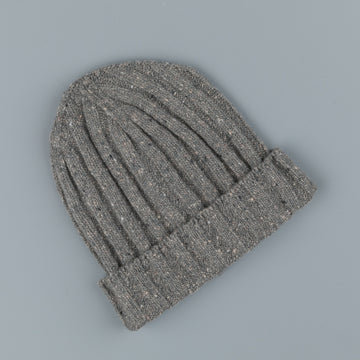 Drumohr Ribbed Hat Donegal Fumo