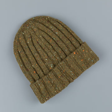 Drumohr Ribbed Hat Donegal Oliva