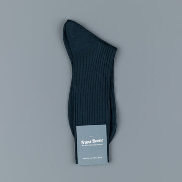 Frans Boone X Pantherella Socks 100% Fil d'Ecosse / Cotton lisle Steel Blue