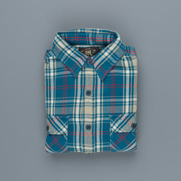 RRL Matlock Shirt Teal Red Plaid