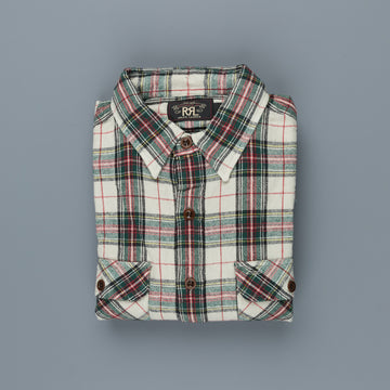 RRL Matlock Shirt Cream Tartan Plaid