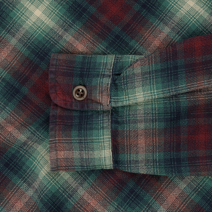 RRL Town Campshirt Red Teal Plaid