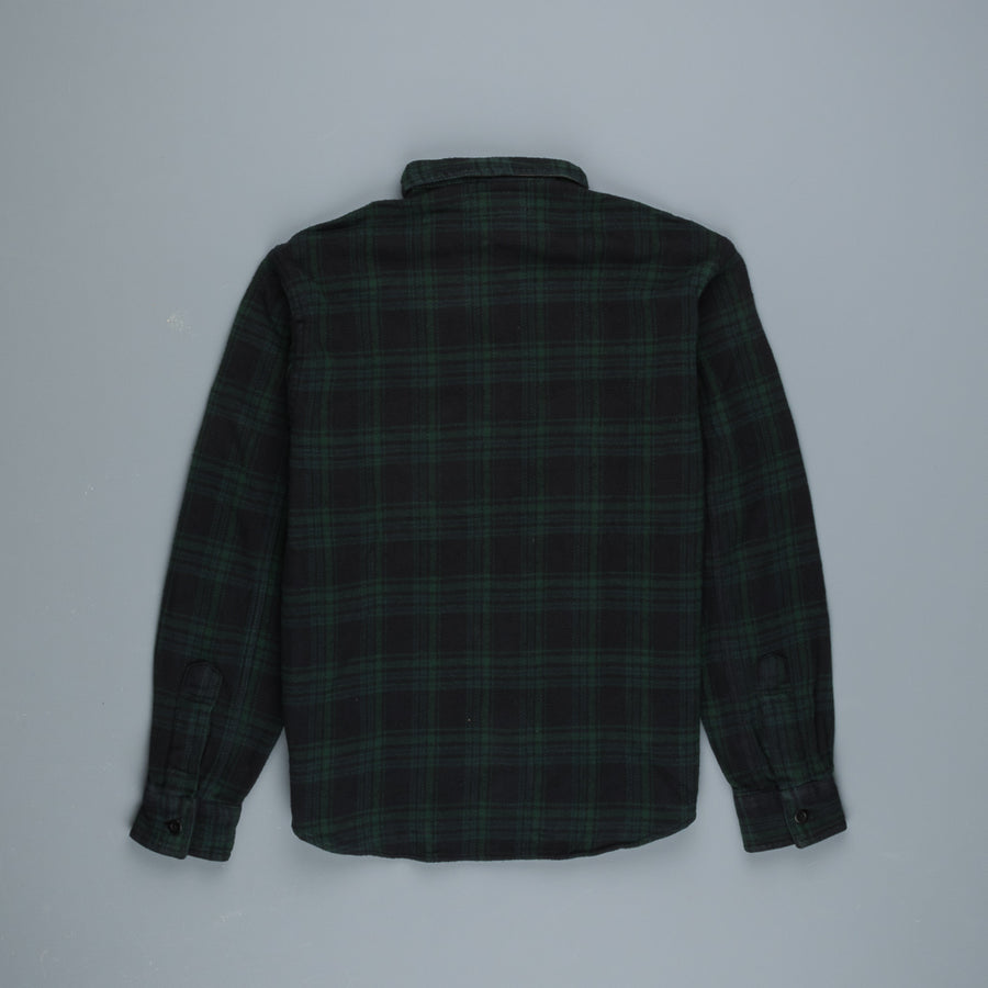 RRL Workshirt Blackwatch Green Black