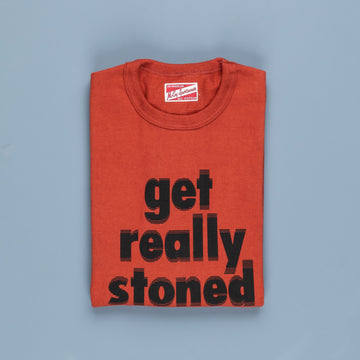 The Real McCoy's Athletic ''Get Really Stoned'' T-Shirt Red