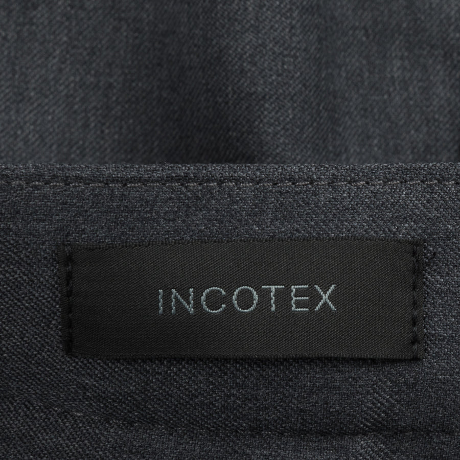 Incotex Urban Traveller Model 84 Washable Wool Grigio Scuro