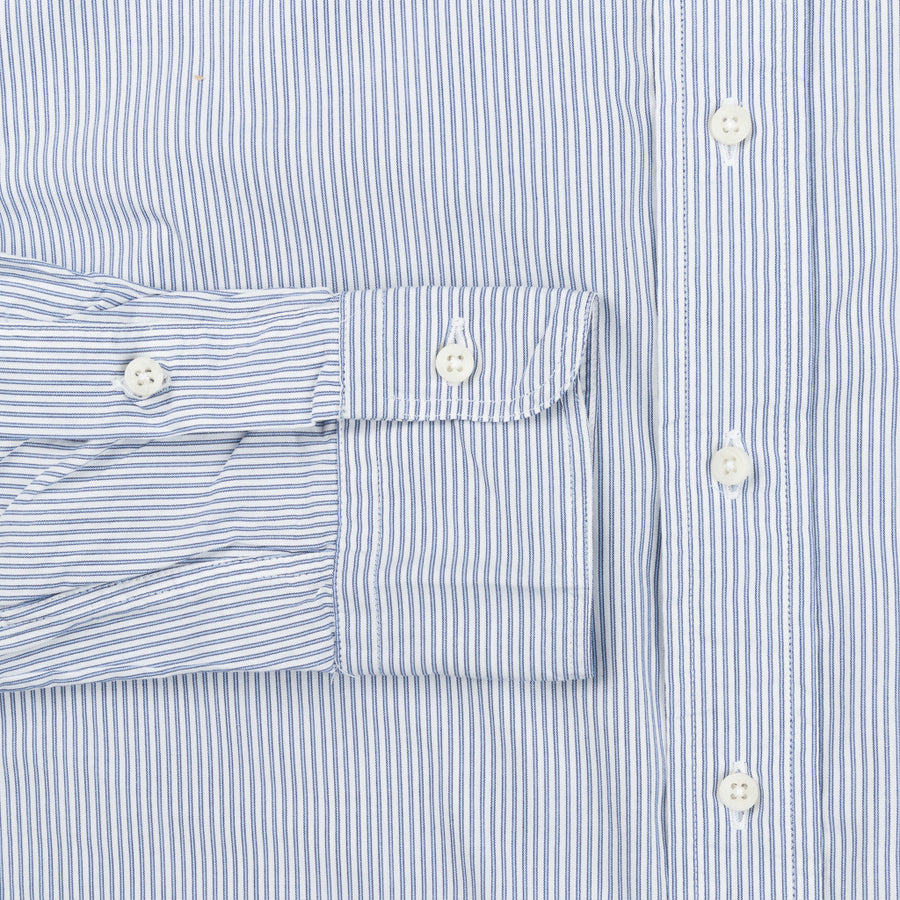 Gitman Vintage x Frans Boone Japanese woven Stripe two tone blue