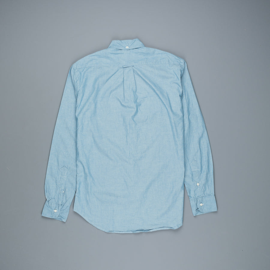 Gitman Vintage x Frans Boone Japanese woven Chambray Blue