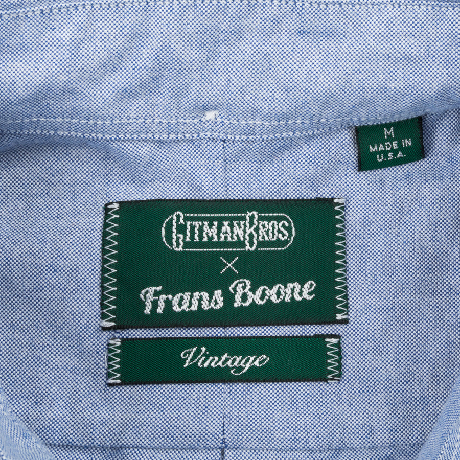 Gitman Vintage x Frans Boone Japanese woven Oxford Dark Blue