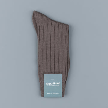 Frans Boone x Pantherella Packington Merino Wool Socks Mole