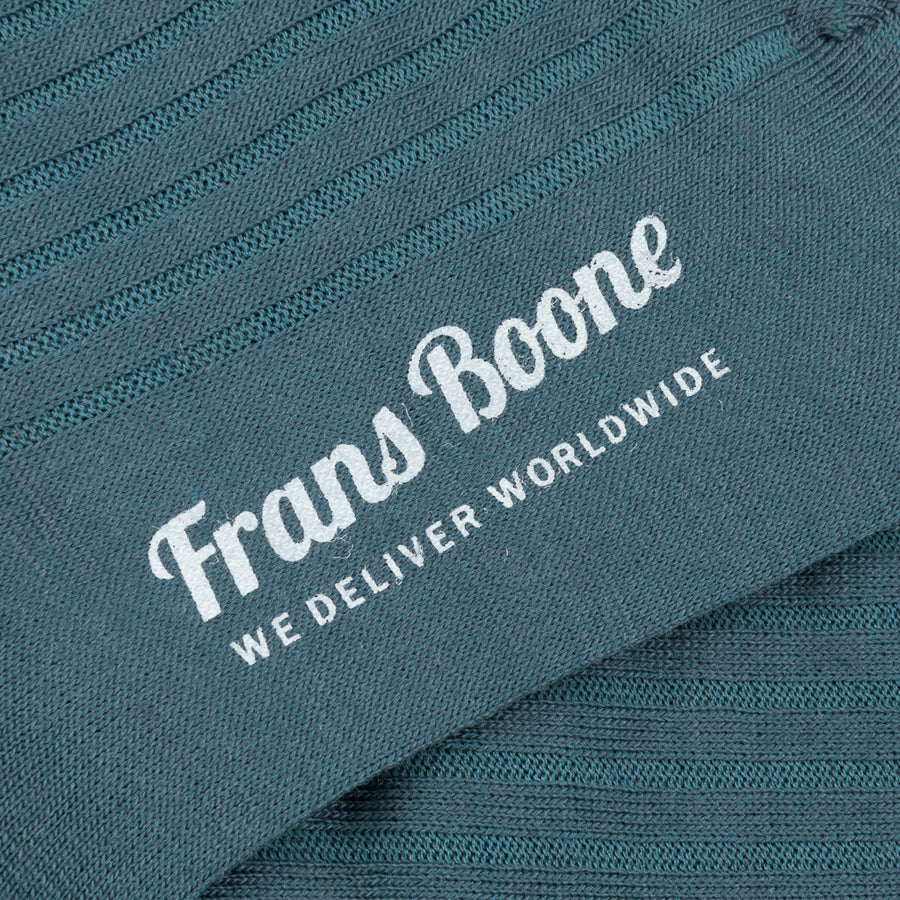 Frans Boone x Pantherella Laburnum Merino Wool Ankle High Socks Teal