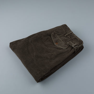 RRL Officer's Flat Pants Corduroy Brown
