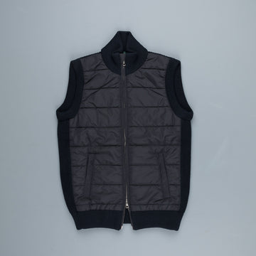 Zanone Urban Traveller Full Zip Mock Vest Blu Navy