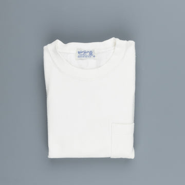 Velva Sheen Heavy oz Pïgment L/S Tee with pocket white