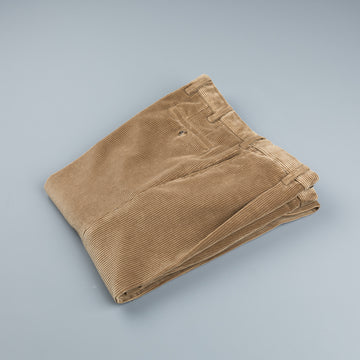 Rota Pantaloni High Rise Regular Fit 8-Wale Corduroy Beige Scuro