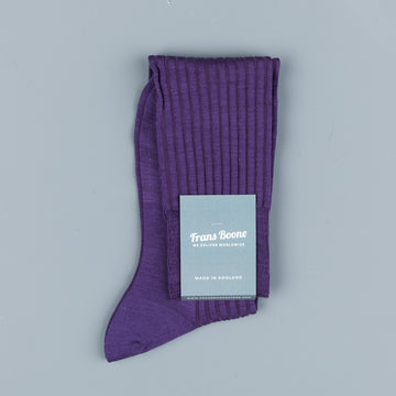 Pantherella Laburnum merino wool knee high socks Dark Purple
