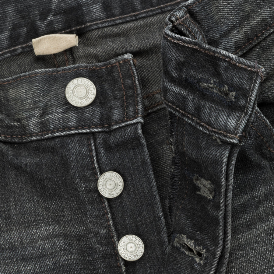 RRL Slim Narrow Jeans Iron Ore Wash