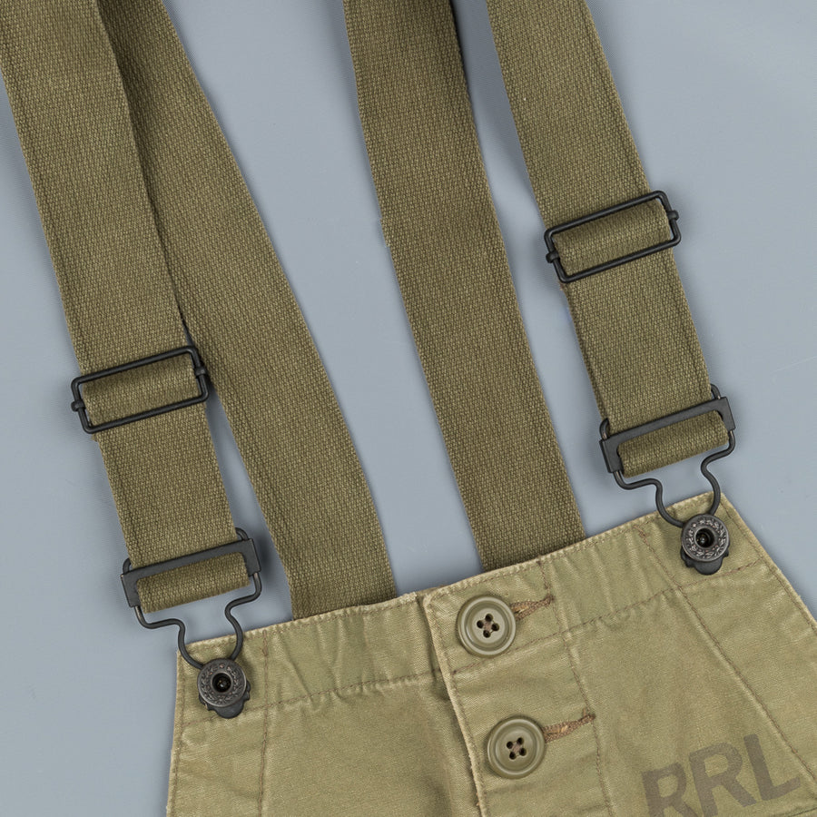RRL Renick Overall Faded Olive Canvas