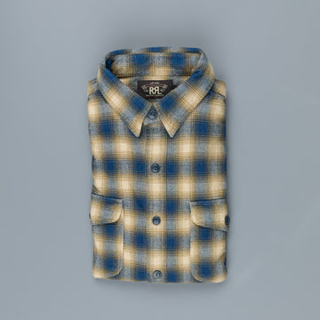 RRL Lee Workshirt RL 348 Ombre Plaid
