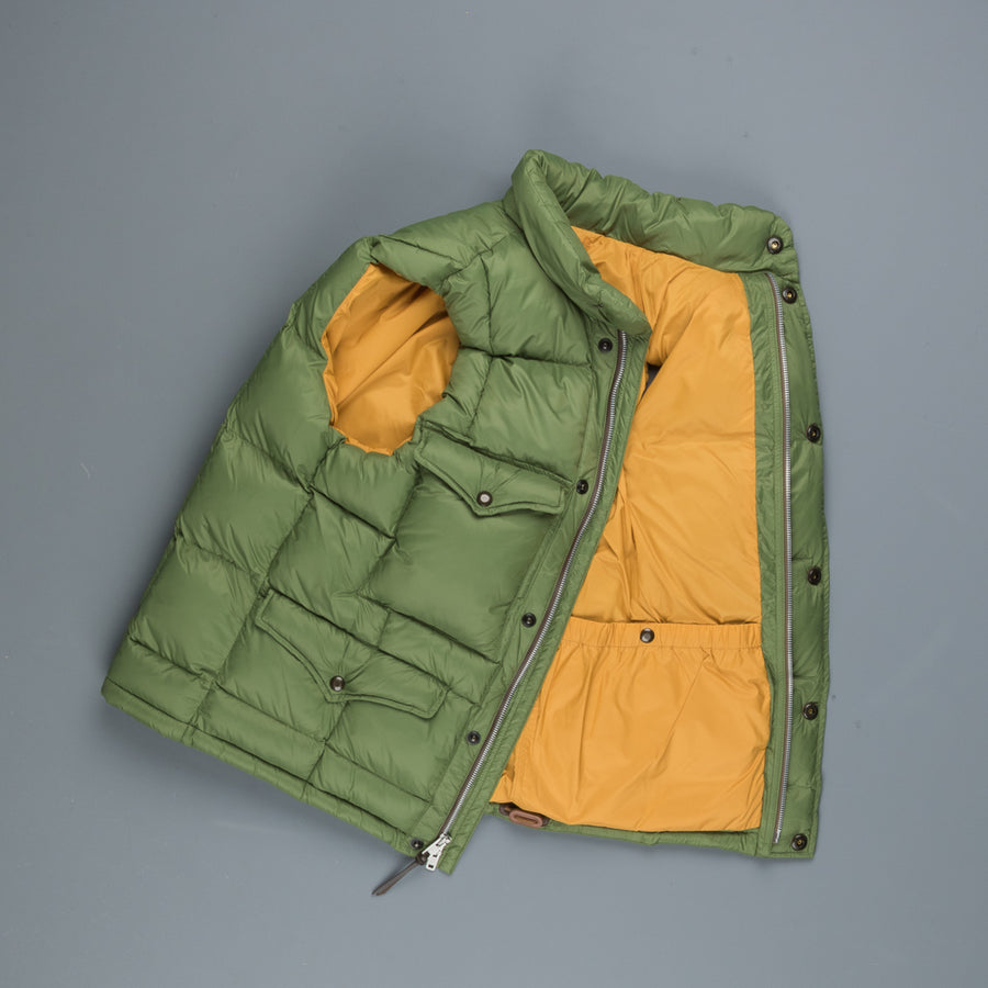 RRL Haines Vest Thermore Filled Faded Green