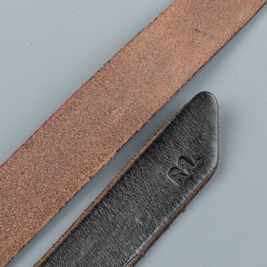 RRL terrance belt dark brown