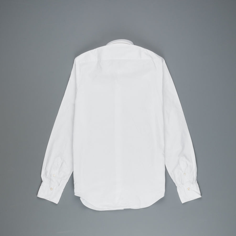 Finamore Tokyo shirt washed oxford button down lucio collar white