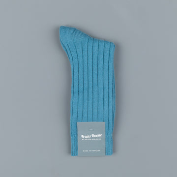 Frans Boone x Pantherella Waddington Cashmere Socks Soft Teal