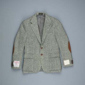 RRL Bellows Harris Tweed Sportcoat Herringbone Cream Black