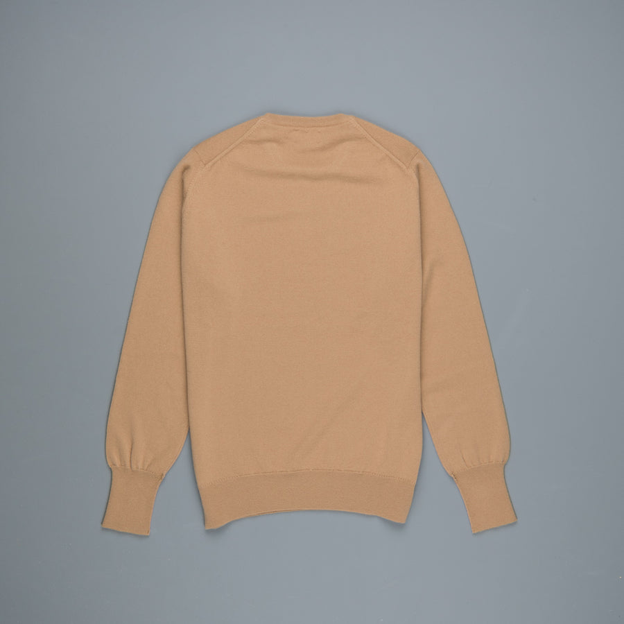 William Lockie Oxton Cashmere Crew Neck Camel