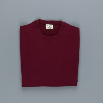 William Lockie Oxton Cashmere Crew Neck Damson