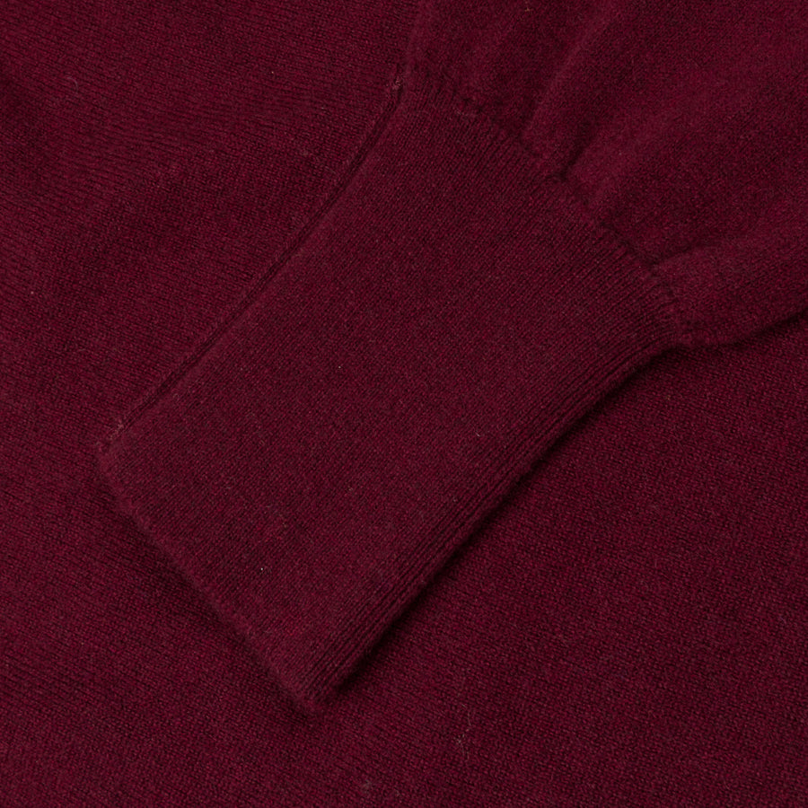 William Lockie Oxton Cashmere V-Neck Damson