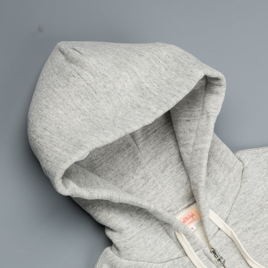 The Real McCoy's 10 oz. Loopwheel F/Z Parka Heather Grey