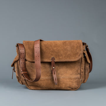 RRL Ammunition Bag Roughout Suede