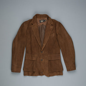 RRL Rowde Half Lined Sport Coat Tobacco Suede
