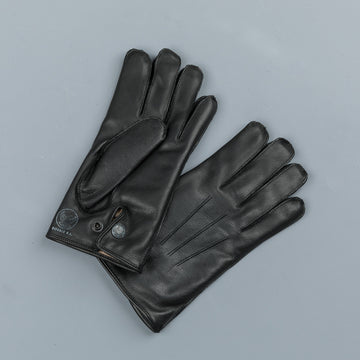RRL Officers gloves leather black