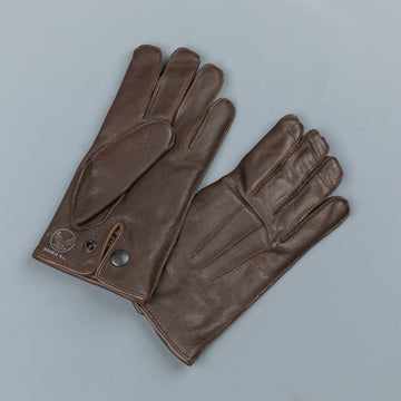 RRL Officers gloves leather brown