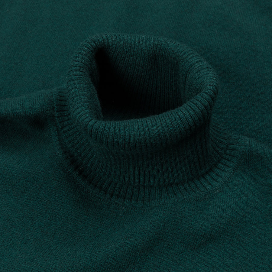William Lockie x Frans Boone Oxton Cashmere Dolcevita Tartan Green