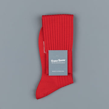 Pantherella Laburnum merino wool knee high socks Indies Red