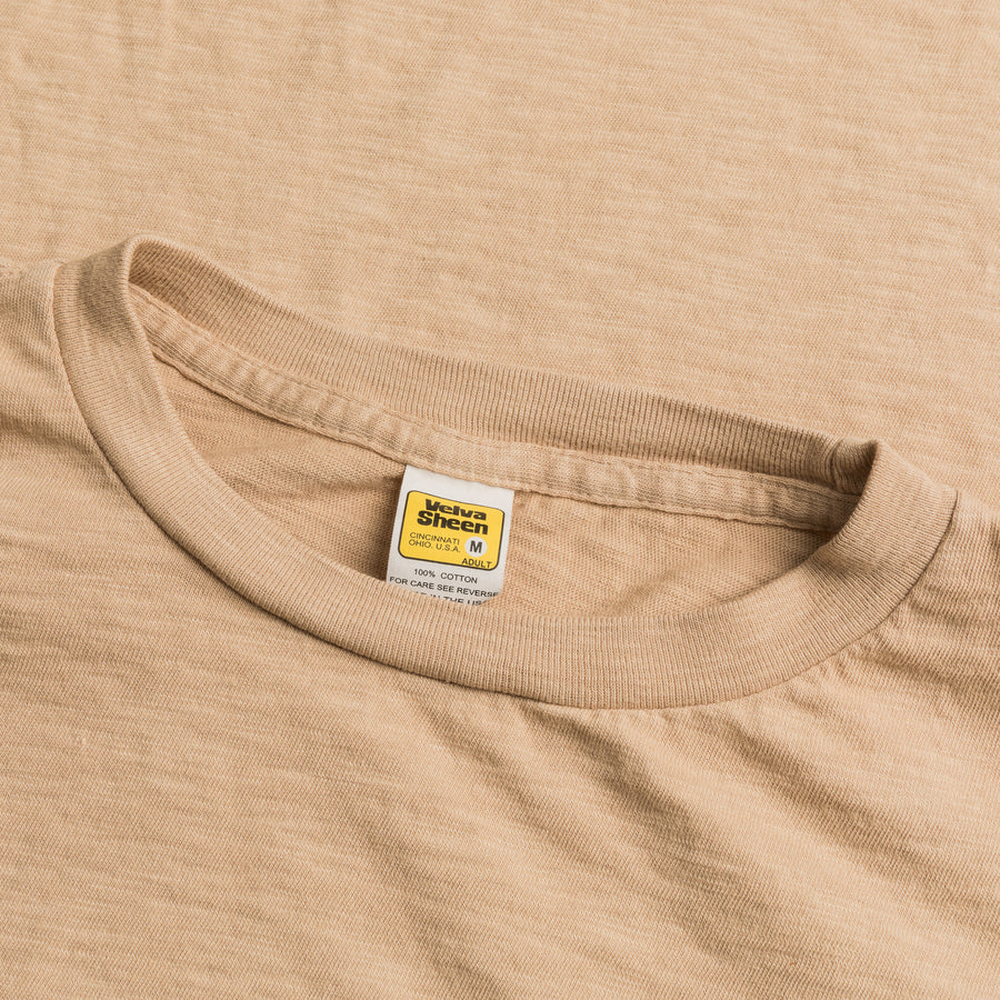 Velva Sheen Roll Tee in Latte